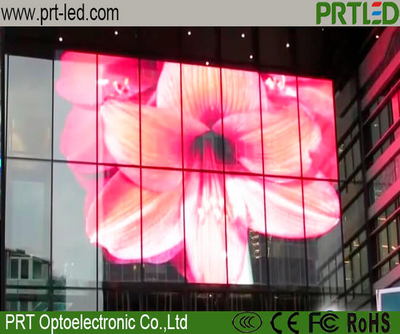 High Brightness Transparent Window Glass LED Video Panel P7.82-15.64 Mm