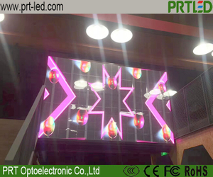 P15.64 Transparent Glass Window LED Display Screen with Aluminum Panel 500 X 1000 Mm/1000 X 1000 Mm