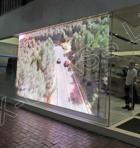 High Brightness P3.9 P7.8 Slim Transparent Full Color LED Display Panels for Glass Video Wall