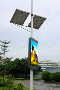 P5 Full Color Advertising Programmable LED Sign for Outdoor Pole