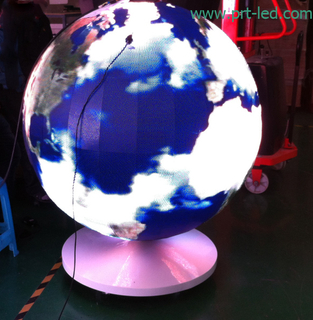 Customized Indoor P4.8 LED Video Ball/Sphere Display Screen (1800mm diameter)