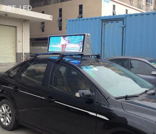 High Brightness Outdoor LED Ad Player Mount on Car Roof of P5, P6