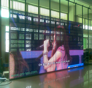 Portable Indoor Rental P10 Full Color LED Video Curtain (1/8 scan)